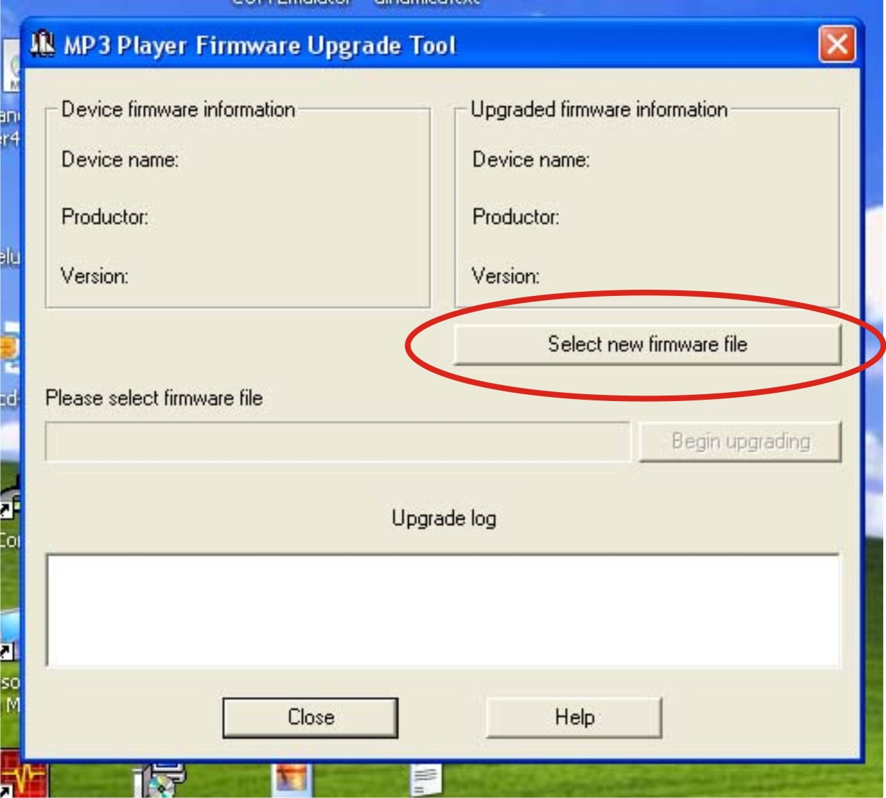 media player firmware upgrade tool mp4